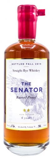 Proof and Wood Straight Rye Whiskey The Senator, 6 Year Old 750ml