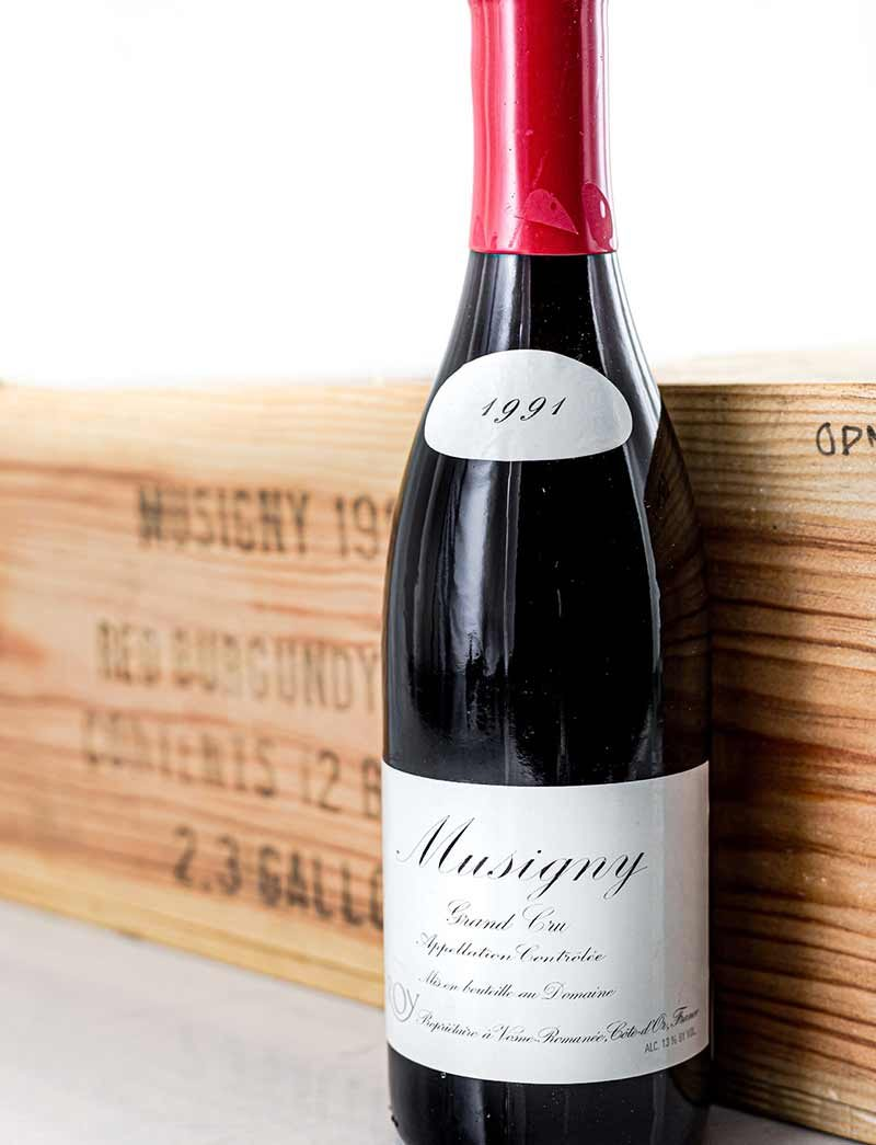 Lot 1055: 10 bottles 1991 Domaine Leroy Musigny in OWC