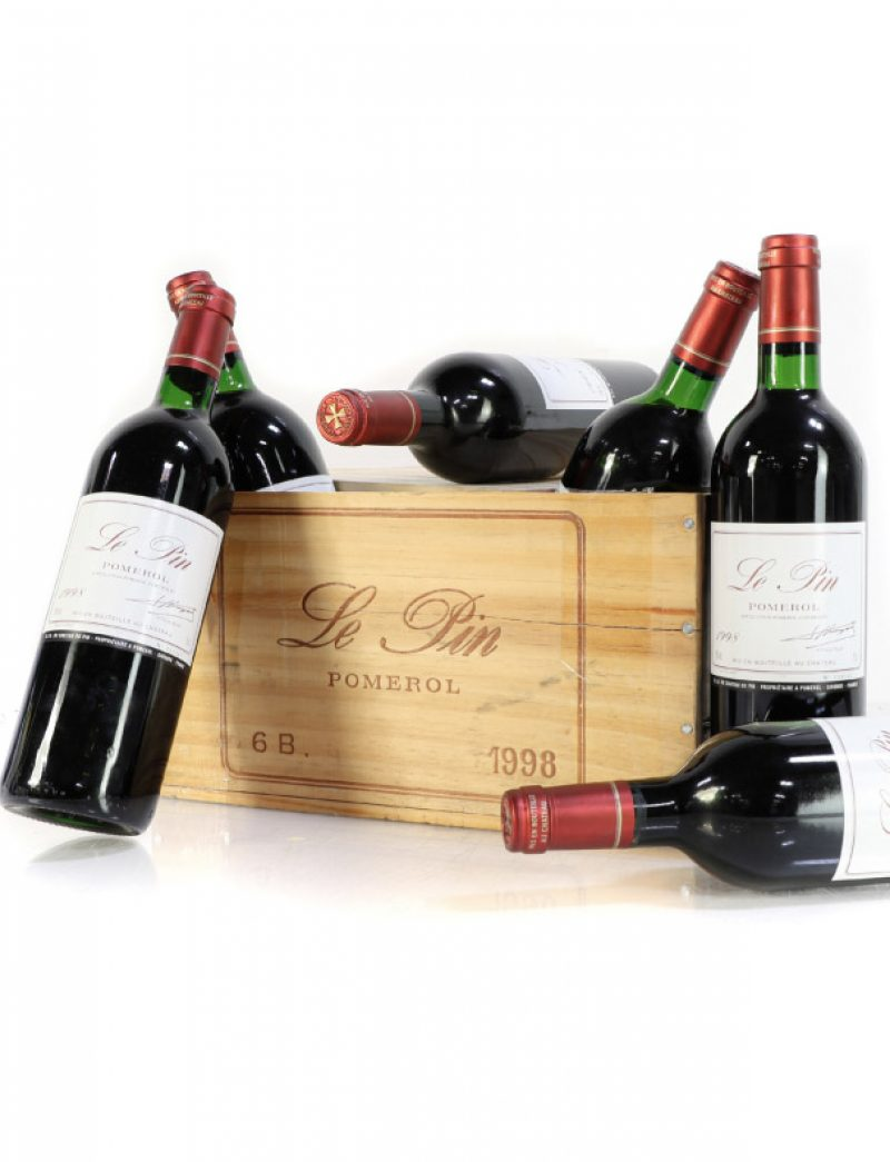 Lot 1375: 6 bottles 1998 Chateau Le Pin in OWC