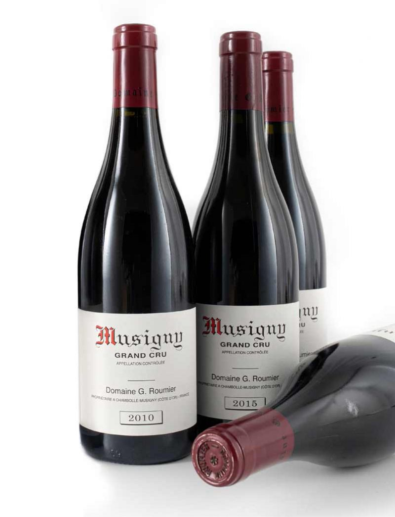 Lot 168, 169: 3 bottles 2010 and 1 bottle 2015 G. Roumier Musigny
