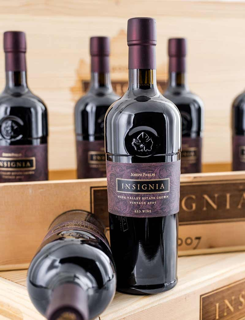 Lot 741: 12 bottles 2007 Joseph Phelps Winery Insignia in OWCs