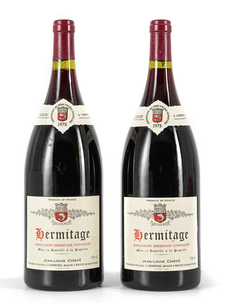 Lot 965: 2 magnums 1978 Chave Hermitage